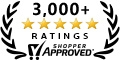 Shopper Approved 3000 plus customer review award