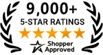 8000+ 5 Star Reviews On Shopper Approved