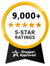8000+ 5 Star Reviews Award
